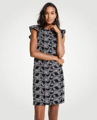 Ann Taylor Petite Contrast Lace Shift Dress