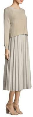 Max Mara Zucca Knit Skirt Combo Dress