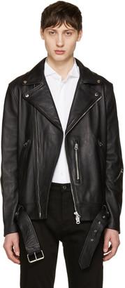 Acne Studios Black Nate Leather Jacket $1,800 thestylecure.com