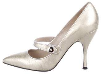 Marc Jacobs Metallic Mary Jane Pumps