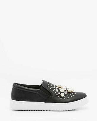Le Château Pearl Embellished Slip-On Sneaker
