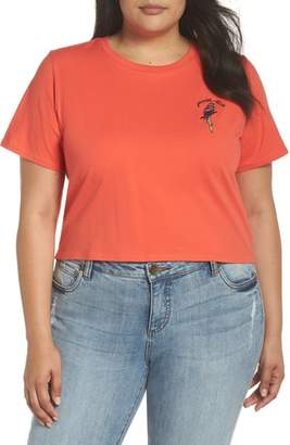 Glamorous Parrot-Dise Embroidered Crop Tee