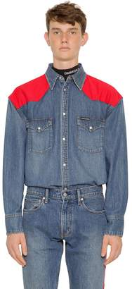 Calvin Klein Jeans Oversized Western Cotton Denim Shirt