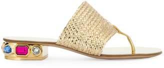 Casadei thong strap sandals