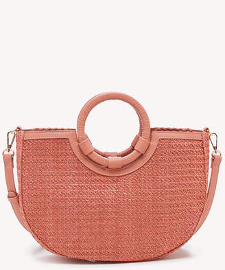 Sole Society Women's Deona Satchel Vegan Leather In Color: Coral Bag Vegan Leather Straw From