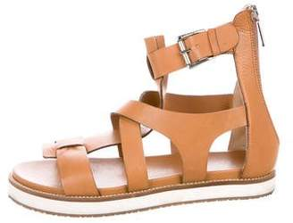 Baldinini Leather Round-Toe Sandals