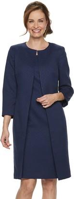 Le Suit Women's Jacquard Jacket & Sheath Dress