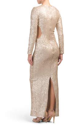 Lara Long Sleeve Sequin Gown