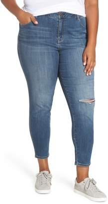 1822 Denim Ripped High Waist Skinny Jeans