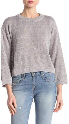 Poof Marled Knit Flared Sleeve Sweater