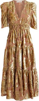 Ulla Johnson Loretta Metallic Devore Dress