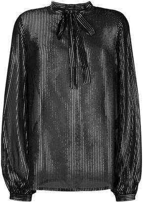 Saint Laurent striped lamé shirt