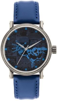 Marvel Comics Black Panther Men's Vintage Leather Watch