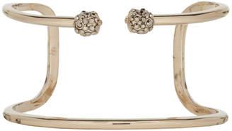 Alexander McQueen Gold Twin Double Skull Bracelet
