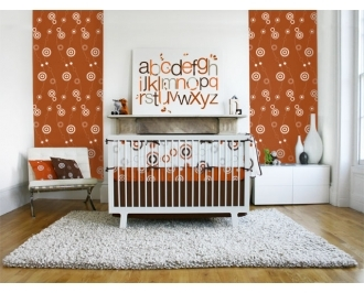 Pin It Olli And Lime Billie Wallpaper - Burnt Orange