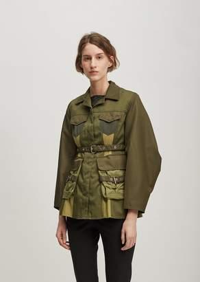 Marques Almeida Marques ' Almeida Patchwork Multi Pocket Jacket Khaki