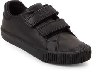 Geox Toddler/Kids Boys) Black Kiwi Leather Sneakers