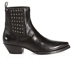 Saint Laurent Men's Huston Leather Ankle Boots