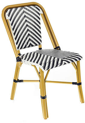 Tiab Inc. Modern Outdoor Bistro Side Chair - Navy/White
