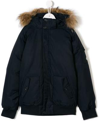 Pyrenex Kids TEEN hooded padded jacket