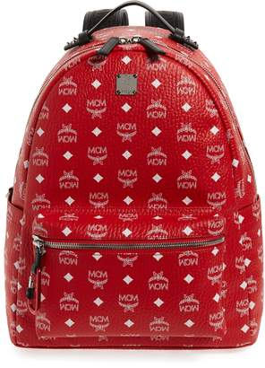 MCM Stark Visetos Faux Leather Backpack