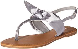 Qupid Women's Thong Sandal with Bow Flat