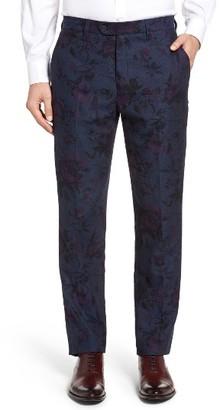 Men's Ted Baker London Flotro Slim Fit Floral Herringbone Trousers $239 thestylecure.com