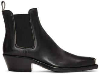 Calvin Klein Black Distressed Western Chris Boots