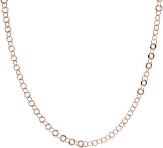 "Bronzo Italia 16"" Starburst Diamond Cut Round Link Necklace"