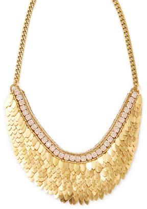 Deepa Gurnani Feather & Crystal Statement Necklace