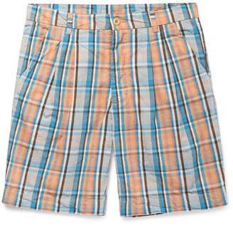Arpenteur Checked Cotton-Broadcloth Shorts