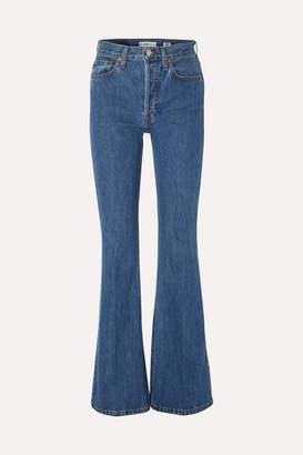 RE/DONE High Break Flared Jeans - Mid denim