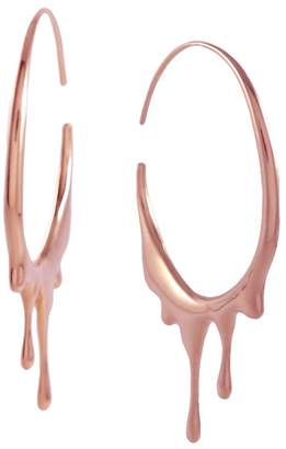 "MARIE JUNE""¢ Jewelry - Dripping Circular Rose Gold Hoops"