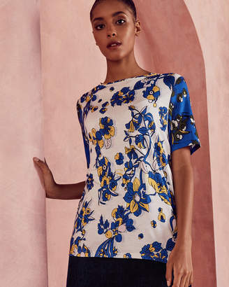 Ted Baker ADREN Floral two-tone T-shirt