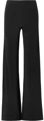 Rosetta Getty Stretch-cady Wide-leg Pants - Black