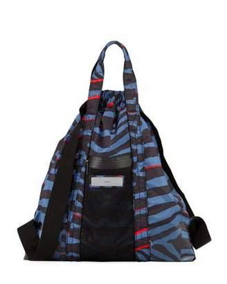 adidas by Stella McCartney Nylon Striped Gym Bag