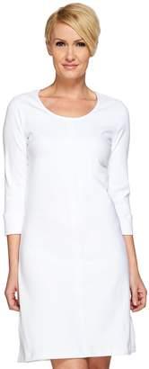 Liz Claiborne New York Knit Denim 3/4 Sleeve Dress