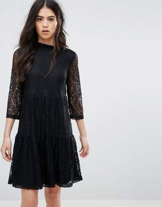 Vila Lace Sleeve Dress