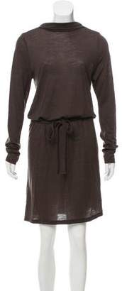Ann Demeulemeester Wool-Blend Knee-Length Dress
