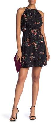 Collective Concepts Halter Neck Floral Printed Halter Dress