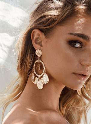 Helena's Heart Coin Earrings