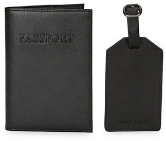 Perry Ellis Leather Passport Case and Luggage Tag Set $47.50 thestylecure.com