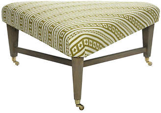 One Kings Lane Spencer Cocktail Ottoman - Curry Stripe