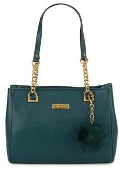 Anne Klein Faux Fur Pom Shoulder Bag
