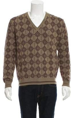 Etro Patterned V-Neck Sweater