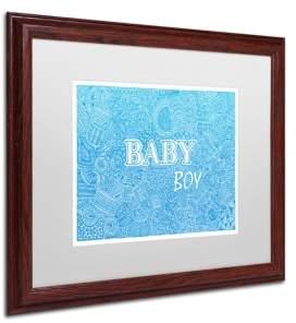 "Trademark Global Viz Art Ink 'Baby Boy' Matted Framed Art, 16"" x 20"""
