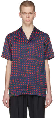 Facetasm Navy and Red Dot Print Shirt