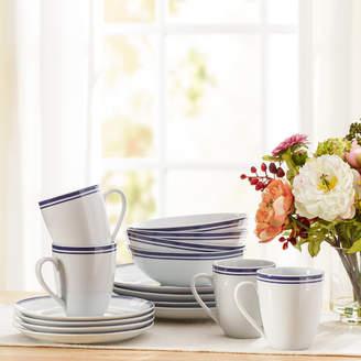 DAY Birger et Mikkelsen Wayfair Basics Wayfair Basics 16 Piece Striped Porcelain Dinnerware Set, Service for 4