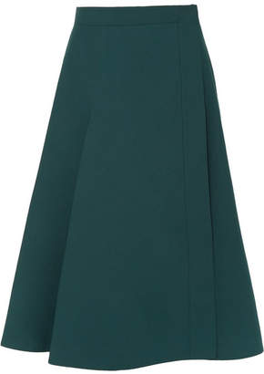 Lemaire Cotton-poplin Wrap Skirt - Teal