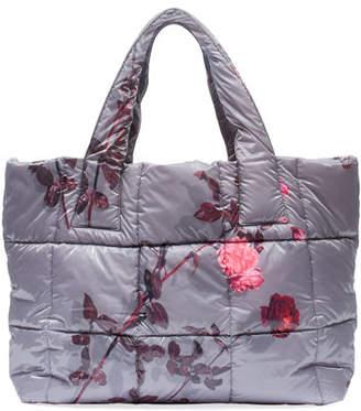Dries Van Noten Floral-Print Large Puffer Tote Bag